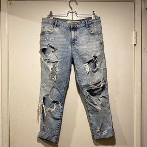 Ripped boyfriend jeans from Zara